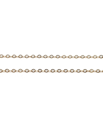 Picture of Yellow Gold Filled 1.3mm Flat Rolo Chain
