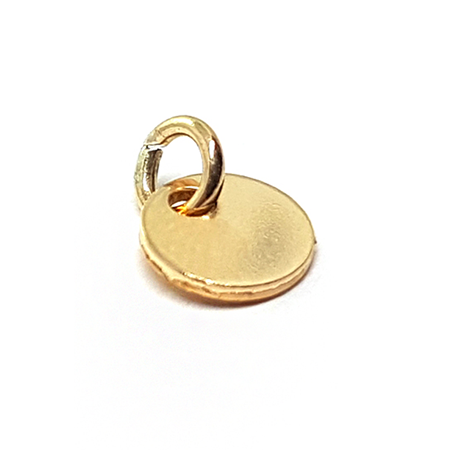 Picture of Yellow Gold Filled 6mm Blank Disc Pendant W/ Soldered Ring