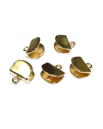 Picture of 14K Gold Plated 10mm Half Moon Shape End cap