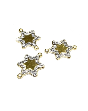 Picture of 14K Gold Plated  C'z Star Pendant W/ Two Rings