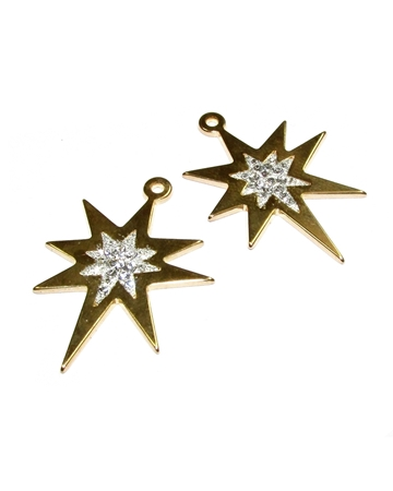 Picture of 14K Gold Plated  C'z Star Pendant
