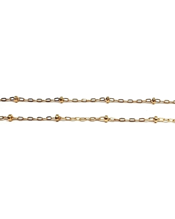 Picture of Yellow Gold Filled Link Chain With Beads
