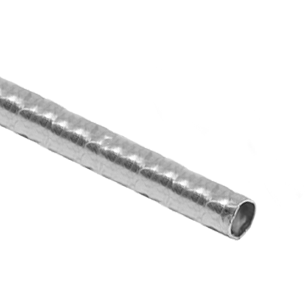 """תמונה של צינור כסף 925 עגול מרוקע 3מ""""מ/0.3מ""""מ"""