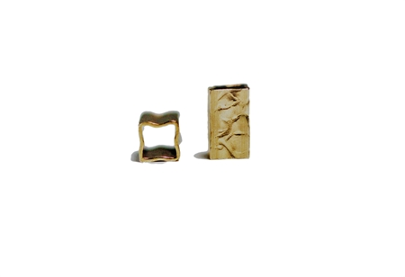 Picture of Gold Filled 3/5mm Hammered Square Tube