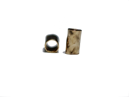 Picture of Yellow Gold Filled Cut Textured Pipeline 3x5mm Round Tube