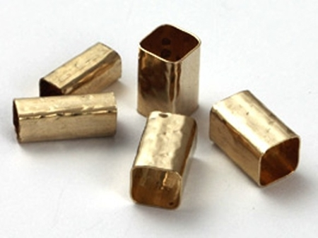 Picture of Gold Filled 5/10mm Hammered Square Tube