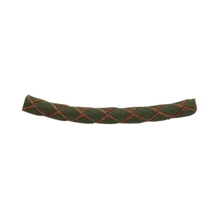 Picture of Braided Leather Olive cord 4mm