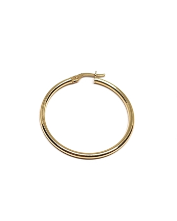 Picture of 14K Yellow Gold Hoop Tube Earring 33X2mm W/snap