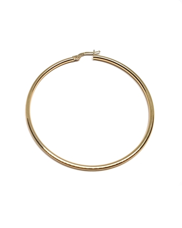 Picture of 14K Yellow Gold Hoop Tube Earring 55X2mm W/snap