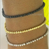 Picture of Sterling Silver Diamond Cut Bead Bracelets in 3 colors