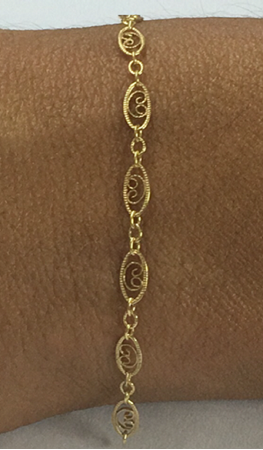 Picture of Yellow Gold Filled Oval Ethnic Chain 4x9mm