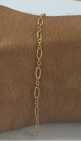 Picture of Gold Filled Figaro 3+1 Designed Chain 3x5mm