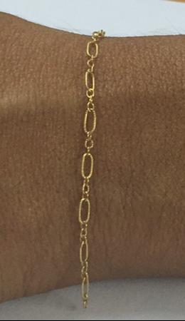 """תמונה של שרשרת גולדפילד פיגארו נקודות3+1,  3X5 מ""""מ"""