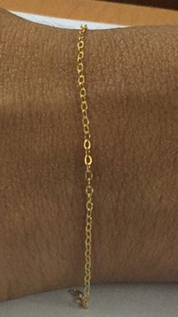 """תמונה של שרשרת גולדפילד חוליות אובלי שטוח 1.5X2.5 מ""""מ"""