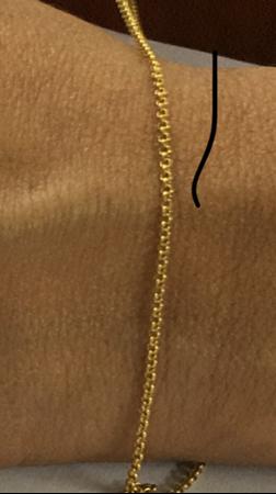 """תמונה של שרשרת גולדפילד צהוב רולו 1.9מ""""מ"""