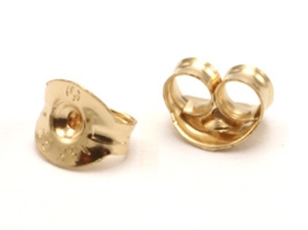 Picture of Yellow Gold Filled 5mm Round Ear Back For 0.8mm Post