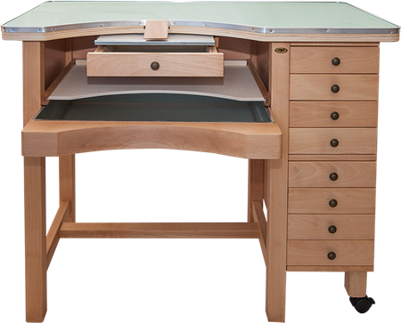 Picture of Integrated Jewelers Work Bench with Drawers-Made in Italy