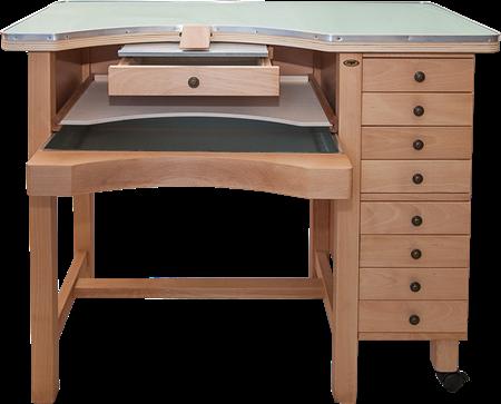 תמונה של שולחן צורפות משולב עם מגירות- תוצרת איטליה