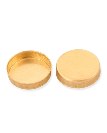 Picture of 9K Gold 6mm Round  Bezel Cup