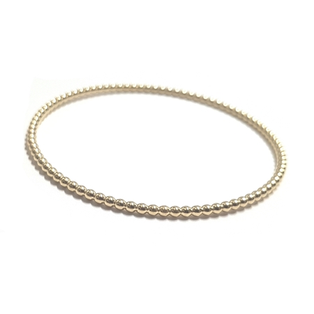 Picture of 14K Yellow Gold 2.5mm Beaded Bangle Bracelet