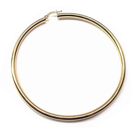 Picture of 14K Yellow Gold Hoop Tube Earring 65X3mm W/snap