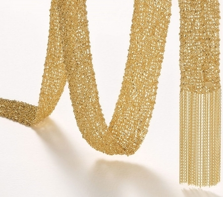 Picture of Sterling Silver Gold Plated 20mm Mesh chain