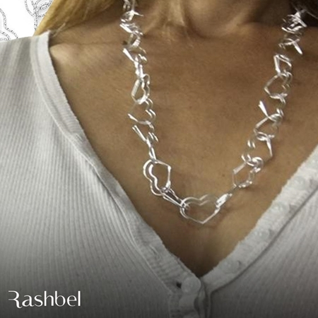 Picture of Sterling Silver Double Heart Link Chain