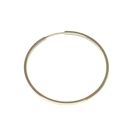 """תמונה של עגיל חישוק זהב 14K צהוב צינור מרובע עובי 1מ""""מ קוטר 30מ""""מ"""