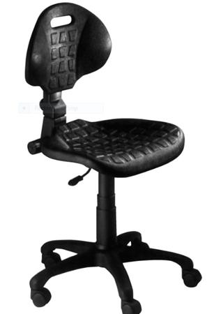 תמונה של כסא צורפות מסתובב מגומי שחור - תוצרת איטליה