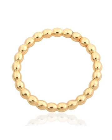 Picture of Yellow Gold Filled 2mm Pearl Wire Ring  Size 7