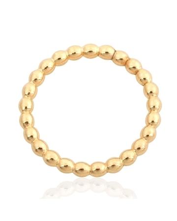 """תמונה של טבעת גולדפילד מחוט כדורי צהוב 2 מ""""מ מידה 7"""