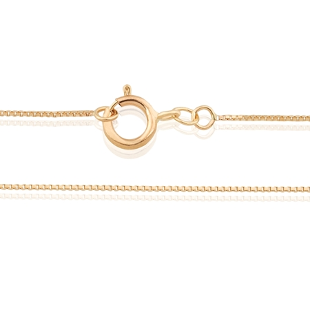 """Picture of 18K Yellow Gold  16.5"""" Box Chain 0.8mm"""