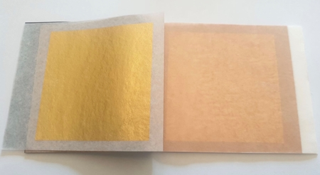 Picture of 23K Fine Gold Leaves 8x8cm Leaf Delicate Coating