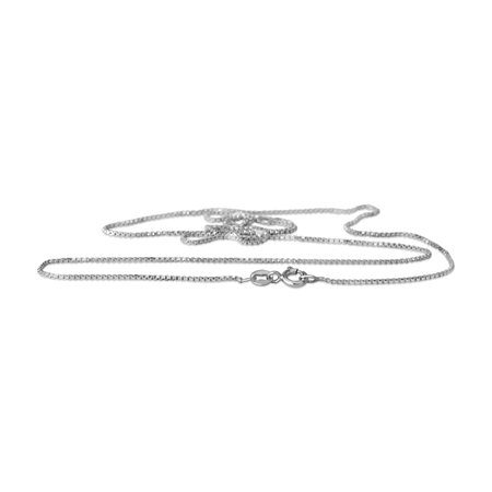 Picture of Sterling Silver Assembled 0.9mm Box Chain 50cm